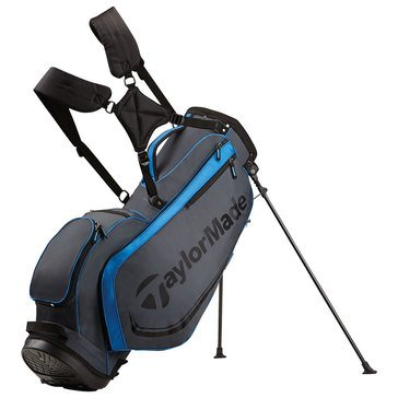 TaylorMade Custom Stand 4.0 Golf Bag- Gray/Black/Blue