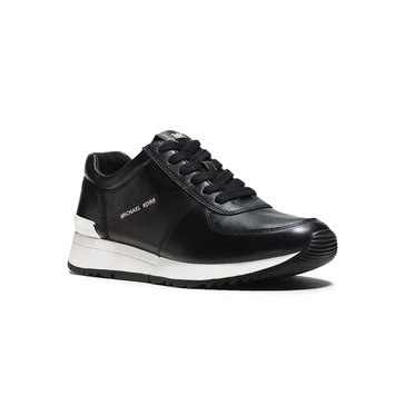 Michael Kors Allie Trainer Women's Suprema Nappa Sport Sneaker Black