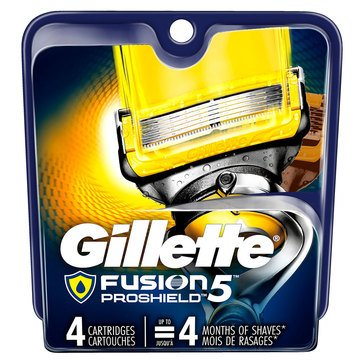 Gillette Fusion 5 Proshield Base Cartridges, 4 Count