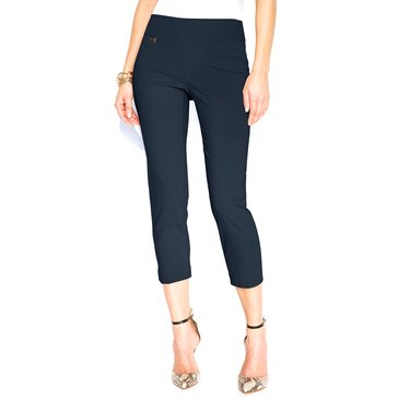 Alfani Women's Pull On Capri Pants in Modern Navy