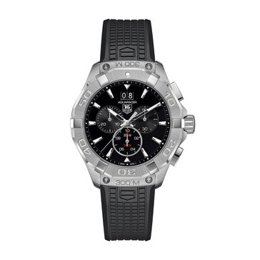 Tag Heuer Men's Aquaracer Chronograph Stainless Steel/Black Polymer Watch, 43mm