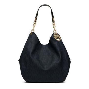 Michael Kors Fulton Large Shoulder Tote Baltic Blue