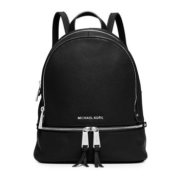 Michael Kors Rhea Zip Medium Backpack Black