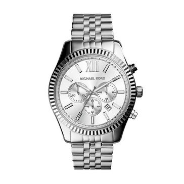 Michael Kors Men's Lexington Stainless Bracelet Oversized Watch, 44mm