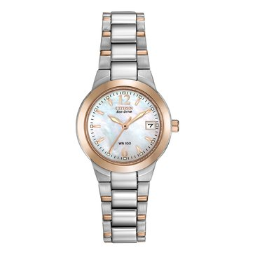 Citizen Women's Eco-Drive Rose Gold Tone and Stainless Steel Bracelet Watch, 26mm