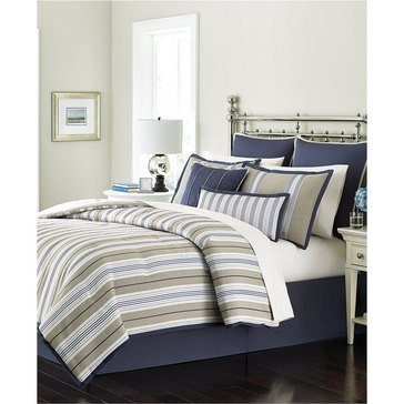 Martha Stewart Collection Madison Stripe 6-Piece Comforter Set - King