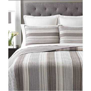 Martha Stewart Collection Garrison Stripe Neutral Quilt - Queen