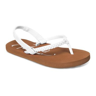 Roxy TW Cabo Girls' Thong Sandal White