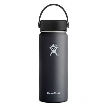 Hydro Flask 18 Oz. Wide Mouth Water Bottle with Flex Lid - Black