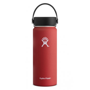 Hydro Flask 18 Oz. Wide Mouth Water Bottle with Flex Lid - Lava