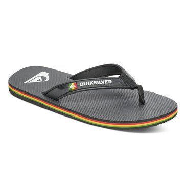 Quiksilver Molokai Wide Men's Thong Sandal Black/ Red/ Green
