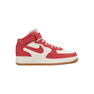 Nike Air Force 1 Mid '07 Men's Basketball Shoe University Red/ Sail/ Gum Light Brown/ University Red