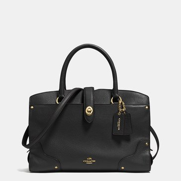 Coach Grain Mercer 30 Satchel Black