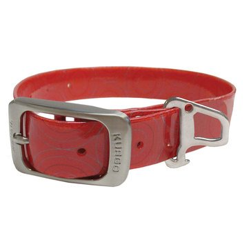 Kurgo Muck Dog Collar Crop Circles Barn Red Medium