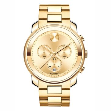 Movado Men's Bold Gold Chronograph Watch, 44mm