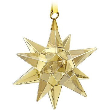 Swarovski Crystal Living Golden Shadow Star Ornament