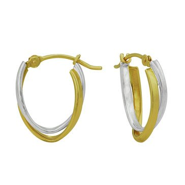 18K Twist Hoop Earrings