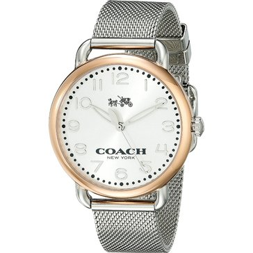 Coach Women's Delancey Rose Gold/Stainless Steel Mesh Watch, 36mm