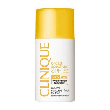 Clinique Broad Spectrum SPF30 Mineral Sunscreen Fluid for Face