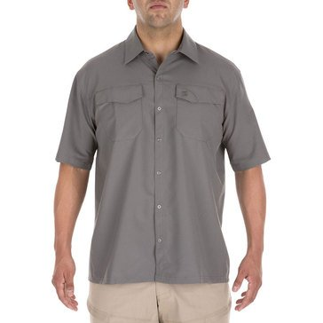 5.11 Men's Freedom Flex Woven Short Sleeve Shirt Storm