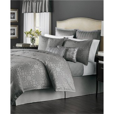 Marth Stewart Collection Savannah Grey 22-Piece Comforter Set - Queen