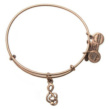 Alex and Ani Charity By Design Sweet Melody Expandable Bangle, Gold Finish