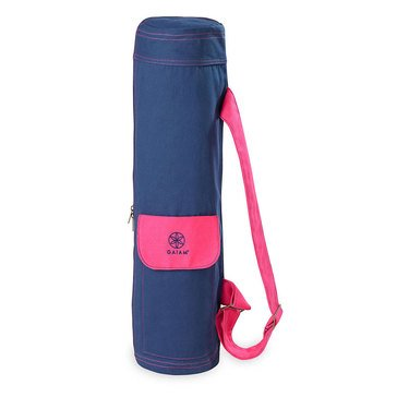 GAIAM Yoga Mat Bag - Navy / Pink