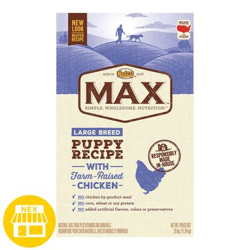 Nutro Max Large Breed Puppy With Chicken Dry Dog Food, 25 lbs.