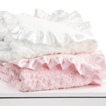 First Impressions Baby Girls' Pink Swirl Boa Blanket