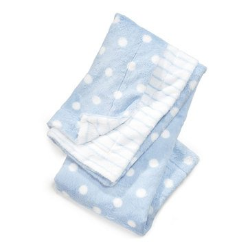 First Impressions Baby Boys' Blue Dot Blanket