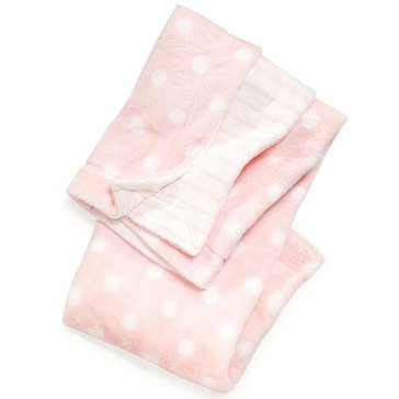 First Impressions Baby Girls' Pink Dot Blanket