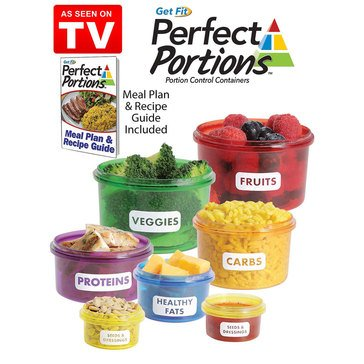 As Seen On TV Get Fit Perfect Portions Portion Control Containers