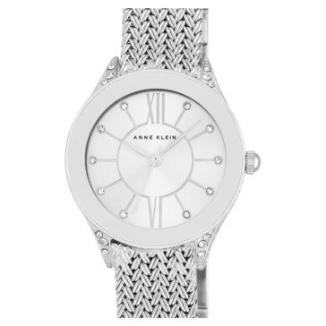 Anne Klein Women's Stainless Steel Mesh Bracelet Watch, 30mm