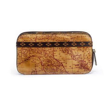 Patricia Nash Oria Zip Wallet Map Print Rust