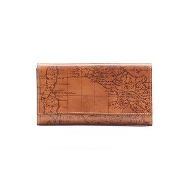 Patricia Nash Terressa Wallet Map Print Rust