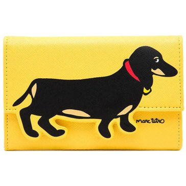 Marc Tetro Saffiano Cutout iPhone Wallet Yellow