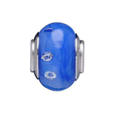 Nomades Color My World Blue Murano Glass Spacer