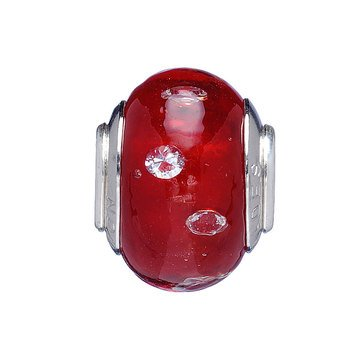 Nomades Color My World Red Murano Glass Spacer