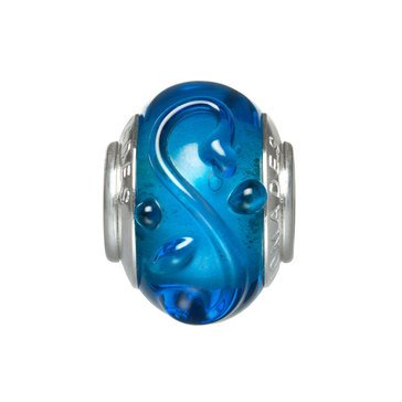 Nomades Pacific Blue Swirl Murano Glass Spacer