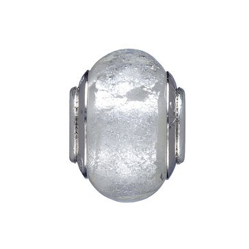 Nomades Silvered Snow Murano Glass Spacer