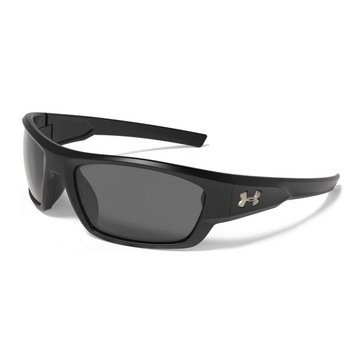 Under Armour Men's UA Force Polarized Sunglasses Satin Black/Grey Storm