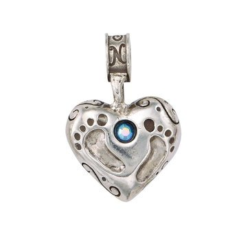Nomades Baby Footprints Charm, Boy