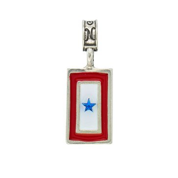 Nomades Blue Star Flag Charm, 1 Star