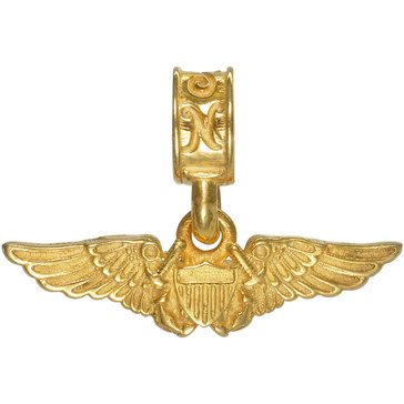Nomadesgold Plated Navy Flight Officer Charm