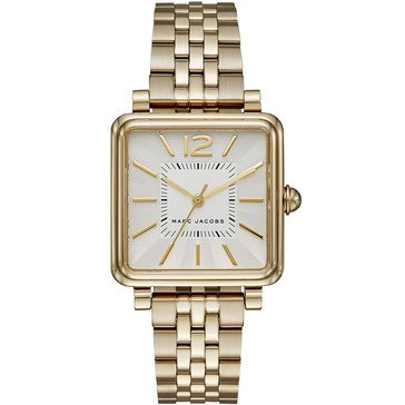 Marc Jacobs Women's Style Square Gold Tone Bracelet Watch 30mm