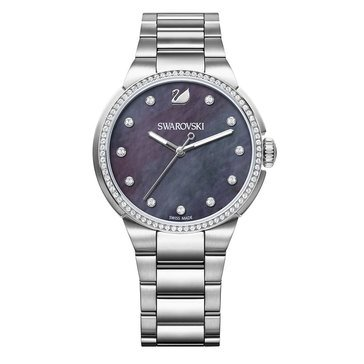 Swarovski Silver Tone City Bracelet Watch