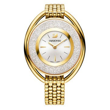 Swarovski Gold Tone Crystalline Oval Bracelet Watch
