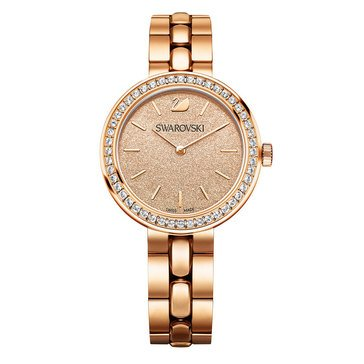 Swarovski Rose Gold Tone and Peach Daytime Bracelet Watch