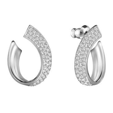 Swarovski Exist Small Earrings, Rhodium Plated