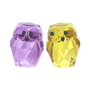 Swarovski Crystal Living 'In Love' Victor and Victoria Owls